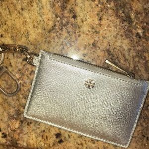 Tory Burch Silver Key Pouch